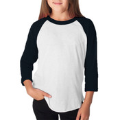 Youth Poly-Cotton 3/4 Sleeve T-Shirt