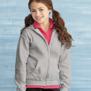 Heavy Blend Youth Full-Zip Hooded Sweatshirt Thumbnail
