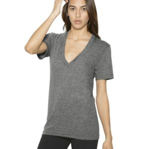 Unisex Tri-Blend Deep V-Neck T-Shirt Thumbnail