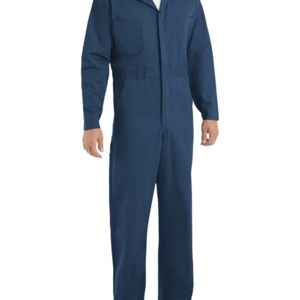 Button-Front Cotton Coverall Long Sizes Thumbnail