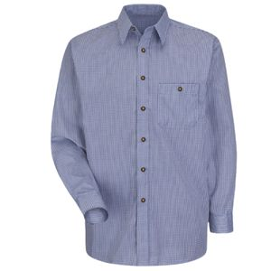 Mini-Plaid Uniform Long Sleeve Shirt Thumbnail