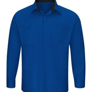 Men's Performance Plus Long Sleeve Shop Shirt with Oilblok Technology - Long Sizes Thumbnail