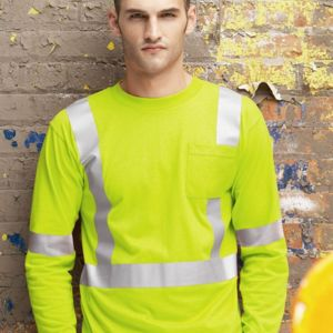 High Visibility Long Sleeve Safety T-Shirt Thumbnail