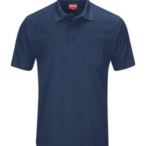Short Sleeve Performance Knit Pocket Polo Thumbnail