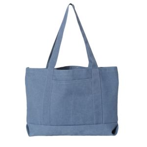 Pigment Dyed Premium 12 Ounce Canvas Gusseted Tote Thumbnail